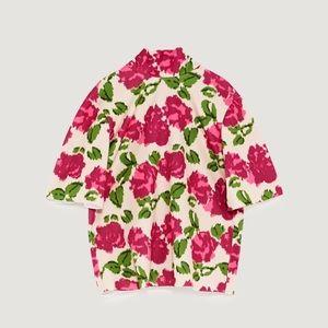 NWT Zara vibrant floral High Neck Top